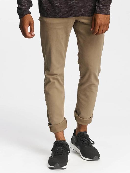 Jack & Jones Slim Fit Jeans jjGlenn Fox AKM 360 hnedá