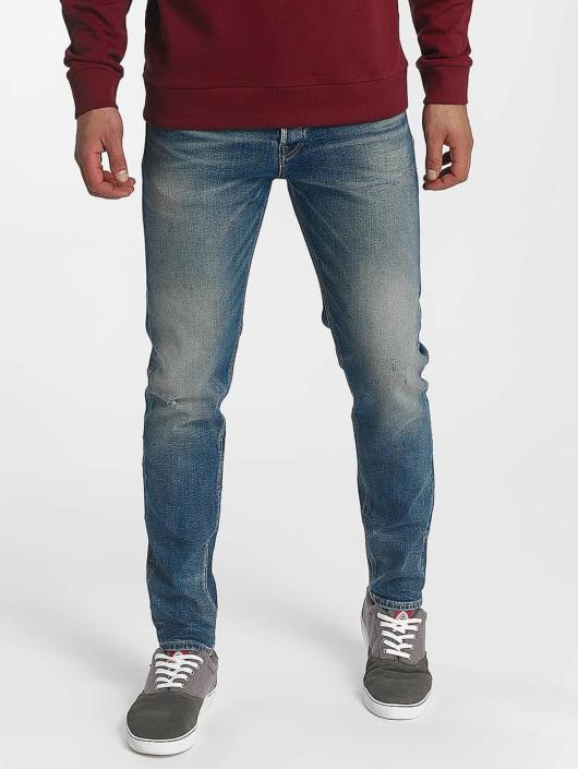Jack & Jones Slim Fit Jeans jjiFred jjOriginal modrá