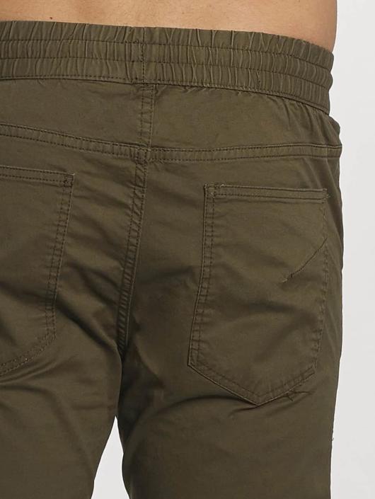Jack & Jones Spodnie wizytowe jjiVega jjBob oliwkowy