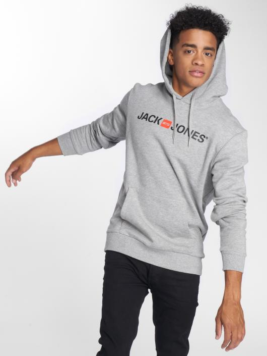 Jack & Jones Sweat capuche jjeCorp Logo gris