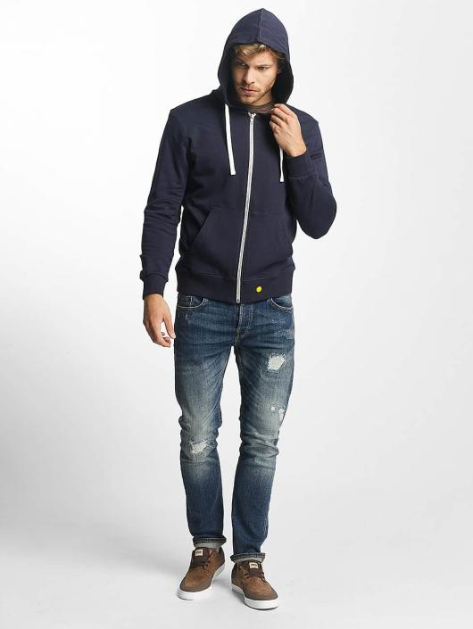 Zippé Jorholmen Homme Sweat Jones Jackamp; Bleu Capuche 376831 76Ygfyb