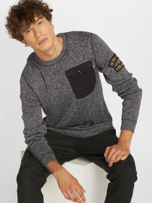Jack & Jones Swetry jcoGrounded szary