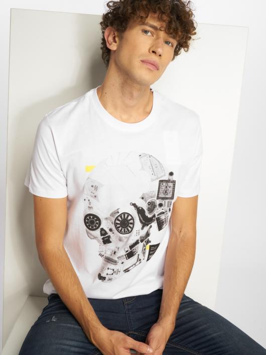 Jcodatas Jackamp; Jones T shirt 532742 Blanc Homme pqSzGMVU