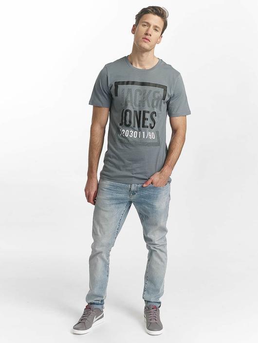 Jack & Jones T-Shirt jcoLine blau