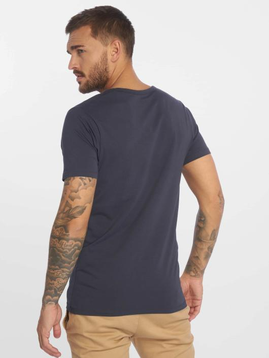 Jack & Jones T-Shirt Basic V-Neck bleu