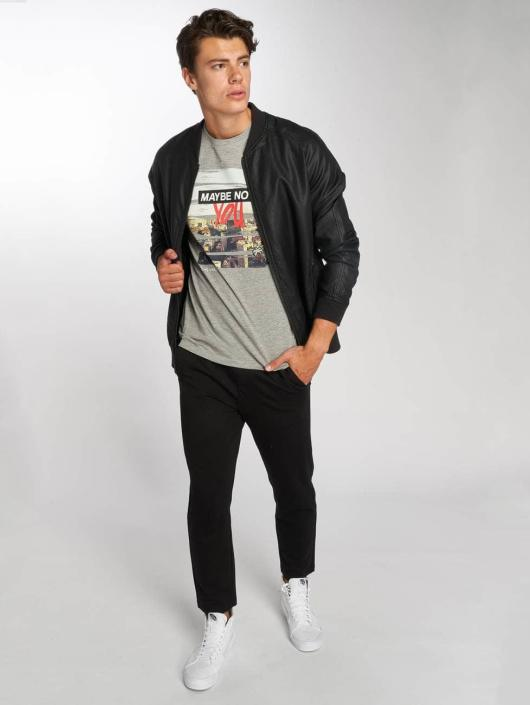 Jack & Jones T-Shirt jorSup Crew Neck grau