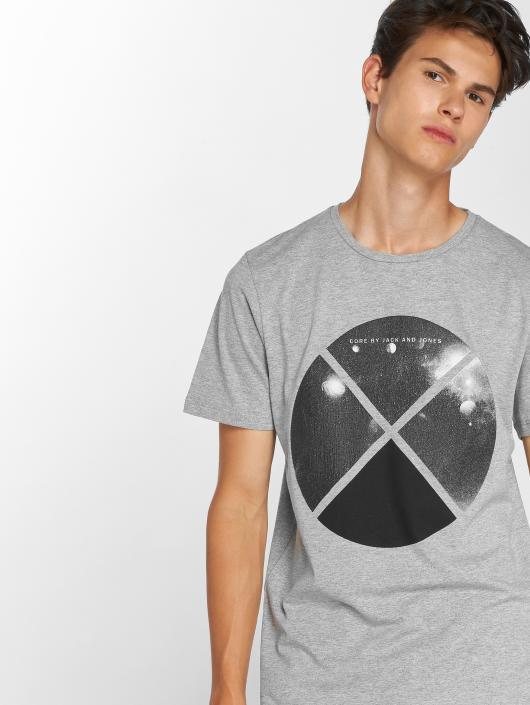 Jack & Jones T-Shirt jcoArc Crew Neck grau