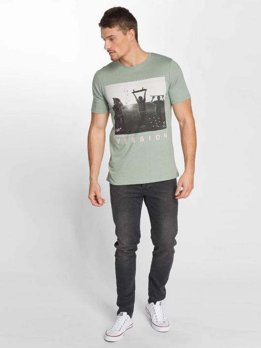 Jack & Jones T-Shirt jorCityyouthline Crew Neck grün