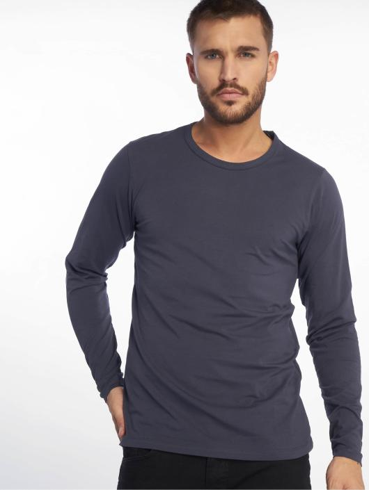 Jack & Jones T-Shirt manches longues Basic bleu