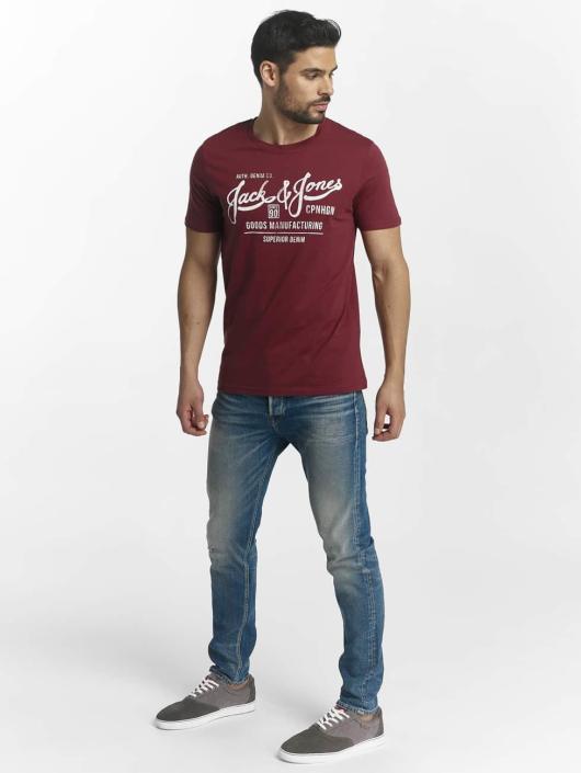 Jack & Jones T-Shirt jorSlack rot