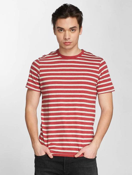 Jack & Jones T-Shirty jjeStripe czerwony