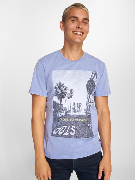 Jack & Jones T-Shirty jorCityAcid niebieski