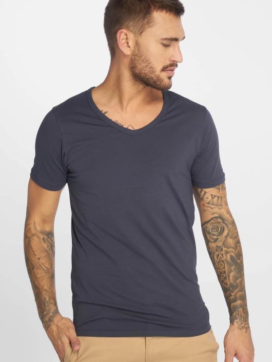 Jack & Jones T-Shirty Basic V-Neck niebieski