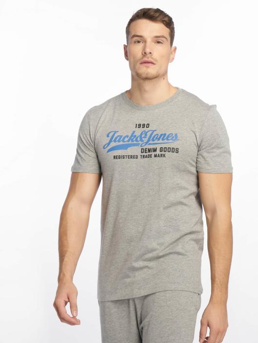 Jack & Jones T-Shirty jjeLogo szary