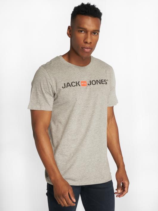 Jack & Jones T-Shirty jjeCorp Logo szary