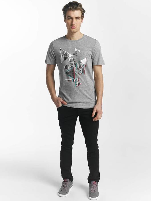Jack & Jones T-Shirty jcoHunter szary