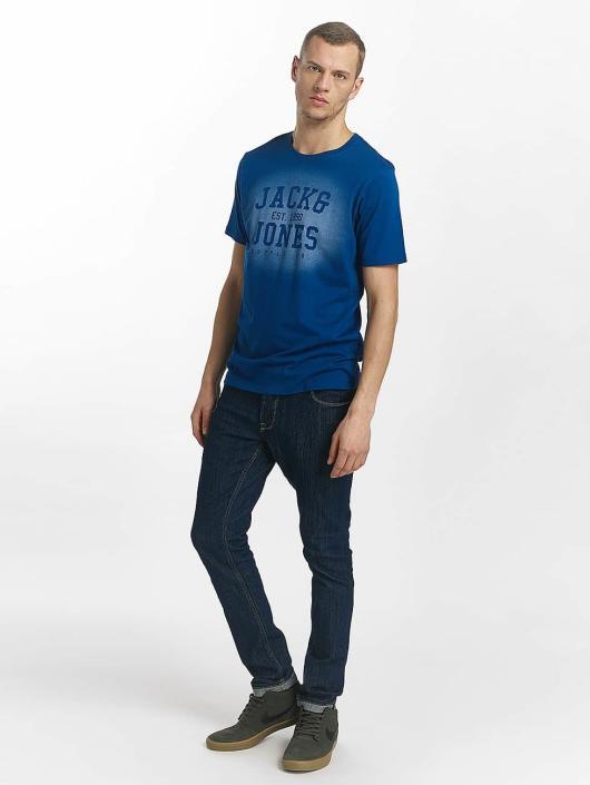 Jack & Jones Tričká jorStencild modrá