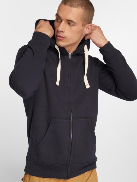 Jack & Jones Zip Hoodie jjeSpace blue