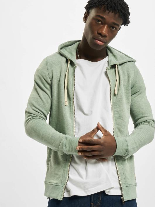 Jack & Jones Zip Hoodie jjvRecycle zelená
