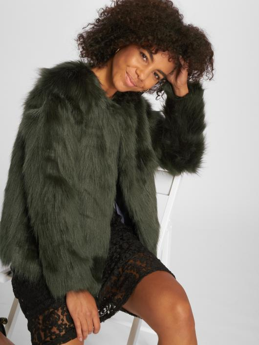 JACQUELINE de YONG Transitional Jackets jdyFenya Fake Fur grøn