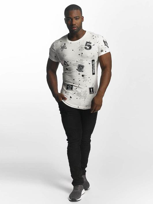 John H T-Shirt Skull blanc