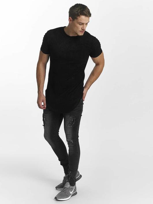 John H T-Shirt Ripped noir