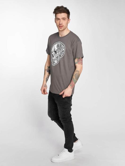 Joker T-Shirt Skull grau