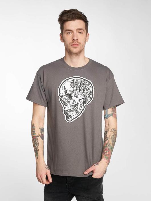 Joker T-Shirt Skull gris