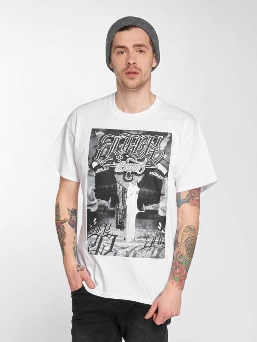 Joker T-skjorter Gun hvit