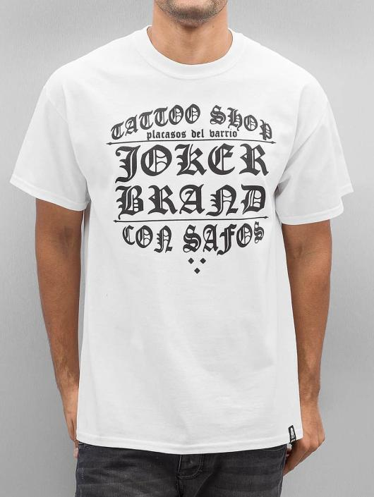 Joker Tričká Tattoo Shop biela