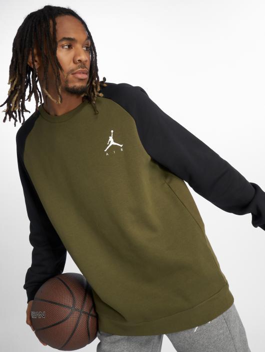 Jordan Swetry Jumpman Fleece oliwkowy