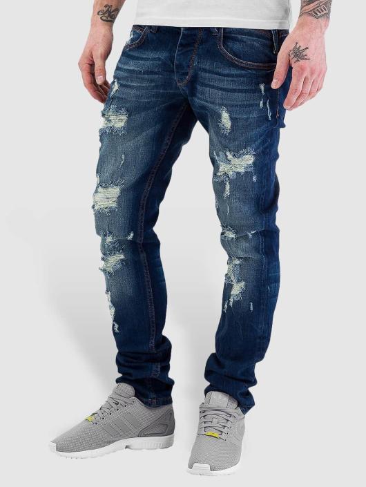 just rhyse herren straight fit jeans destroyed in blau 180703. Black Bedroom Furniture Sets. Home Design Ideas