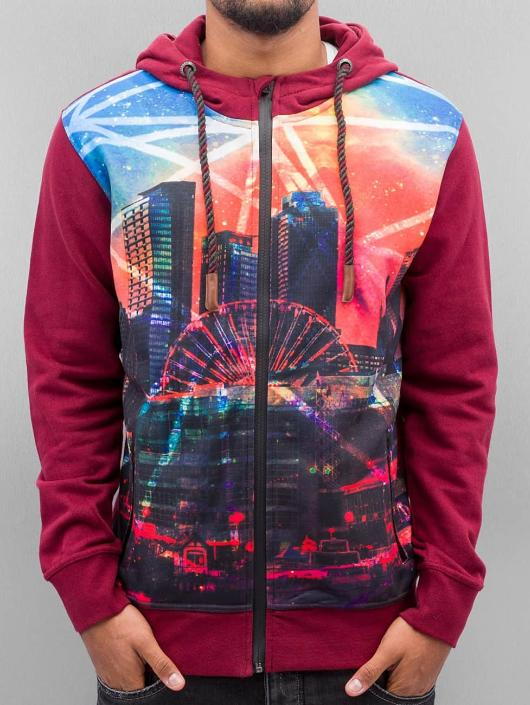 Lights Rouge Sweat Rhyse Capuche 259330 Just Zippé Homme SzVGqUMp