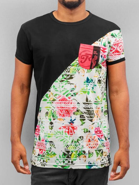 Just Rhyse T-Shirt Flower 02 schwarz