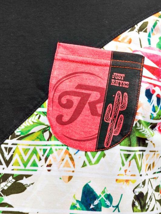 Just Rhyse t-shirt Flower 02 zwart