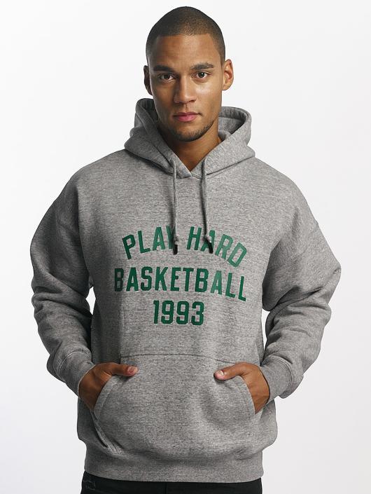 K1X Bluzy z kapturem Play Hard Basketball szary