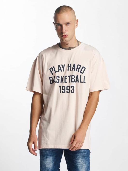 K1X T-Shirty Play Hard Basketball rózowy