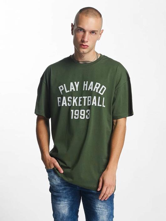 K1X T-Shirty Play Hard Basketball zielony