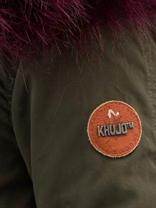 Khujo Пальто Methone оливковый