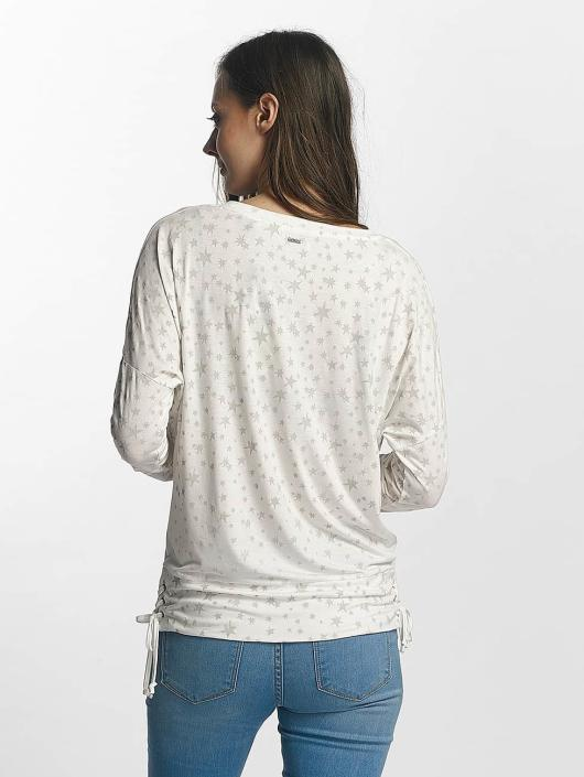 Khujo Maglietta a manica lunga Strand bianco