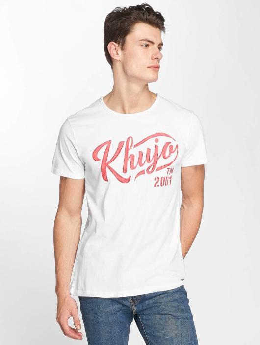 Khujo T-Shirty Tagos bialy