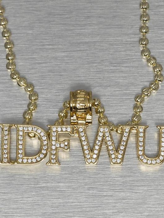 KING ICE Kette IDFWU goldfarben
