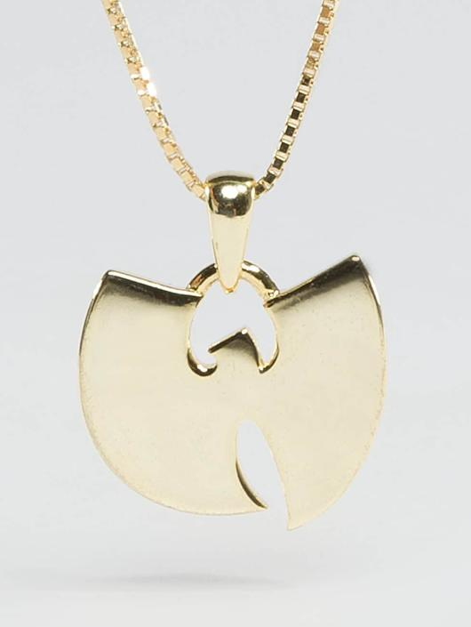 """KING ICE ketting WU-TANG CLAN Gold_Plated 925 Sterling_Silver """"W"""" goud"""