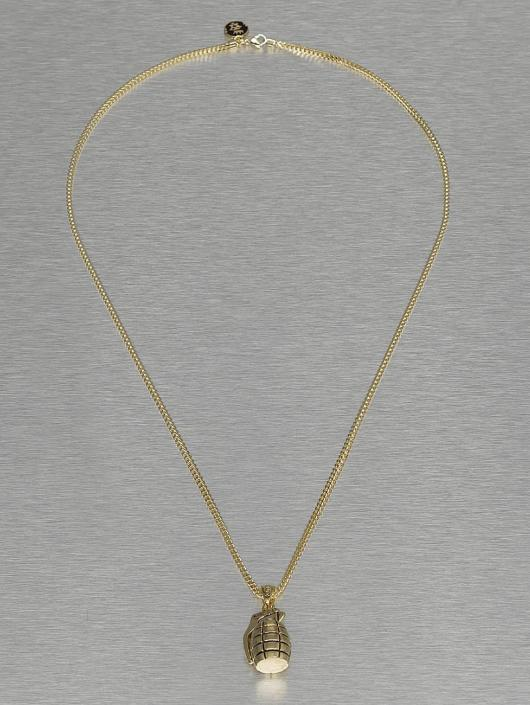 KING ICE Necklace Nade gold colored