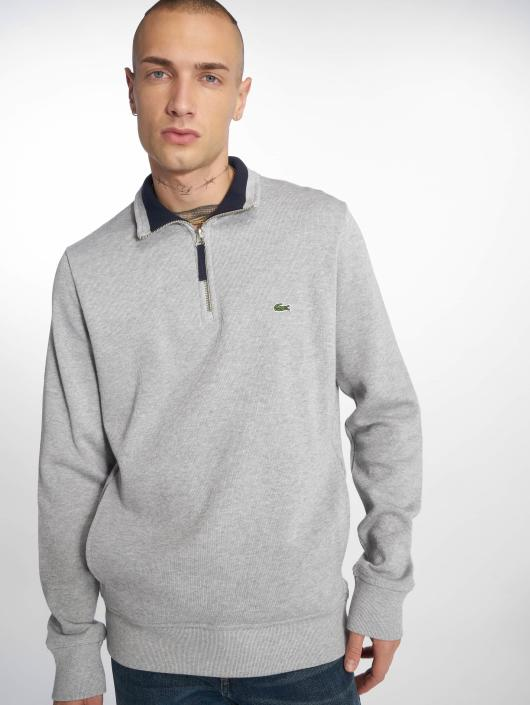 Lacoste Swetry Silvern Chine/Navy szary