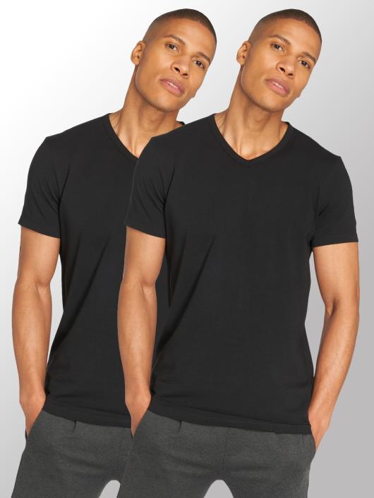 sehr bekannt beliebt kaufen kinder Lacoste 2-Pack V/N T-Shirt Black