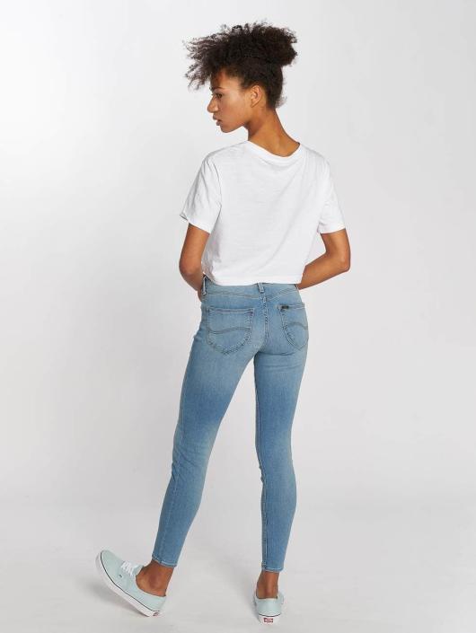 Lee Облегающие джинсы Scarlett синий