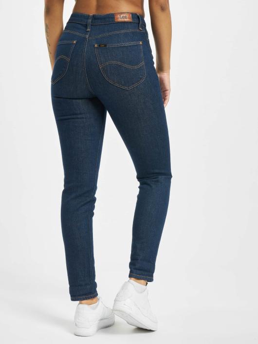 Lee Slim Fit Jeans Mom modrá