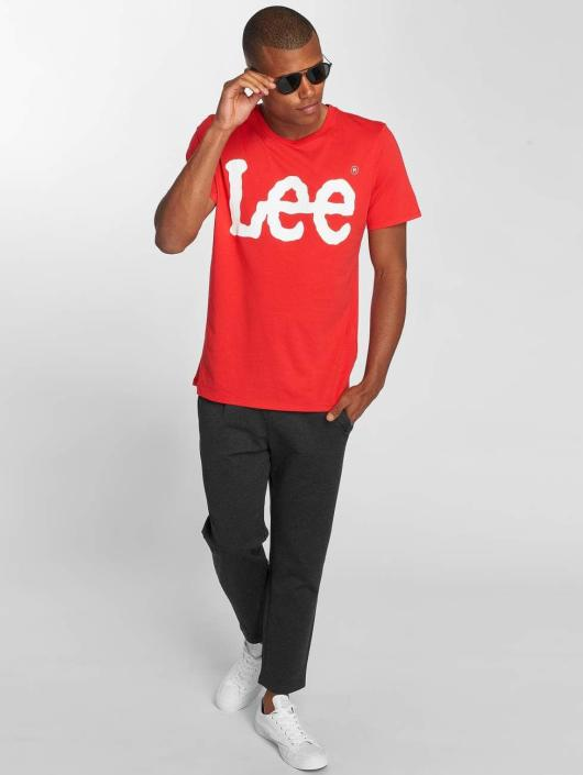 Lee T-Shirt Logo rot