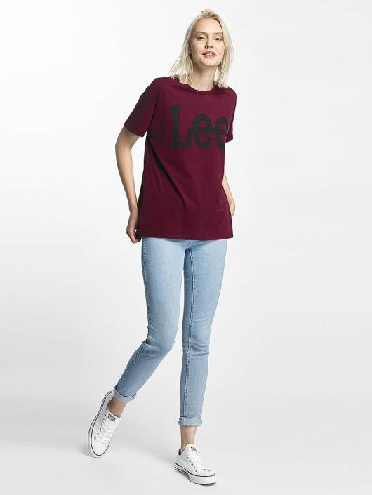 Lee T-Shirt Logo rouge
